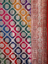 Corner of Silver Brocade saree